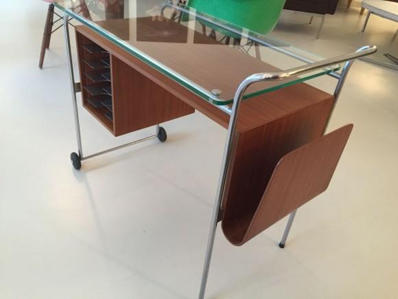 Elastique Vintage Zuerich Rolling Desk Mobiles Pult Schreibtisch 4