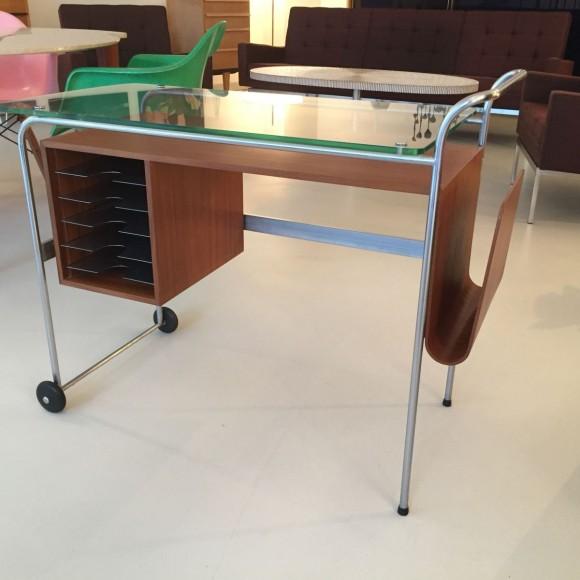 Elastique Vintage Zuerich Rolling Desk Mobiles Pult Schreibtisch 5