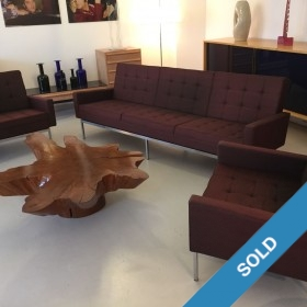 Florence-Knoll-Sofa und zwei Sessel