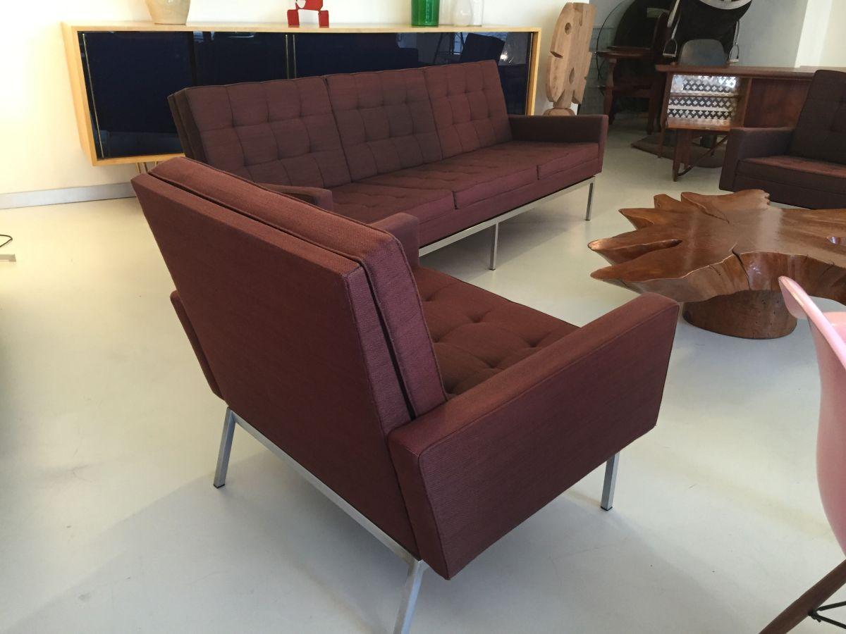 elastique vintage m bel furniture z rich schweiz florence knoll sofa und zwei sessel. Black Bedroom Furniture Sets. Home Design Ideas