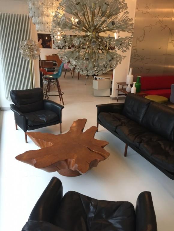 Dänisches Sofa mit 2 Sesseln