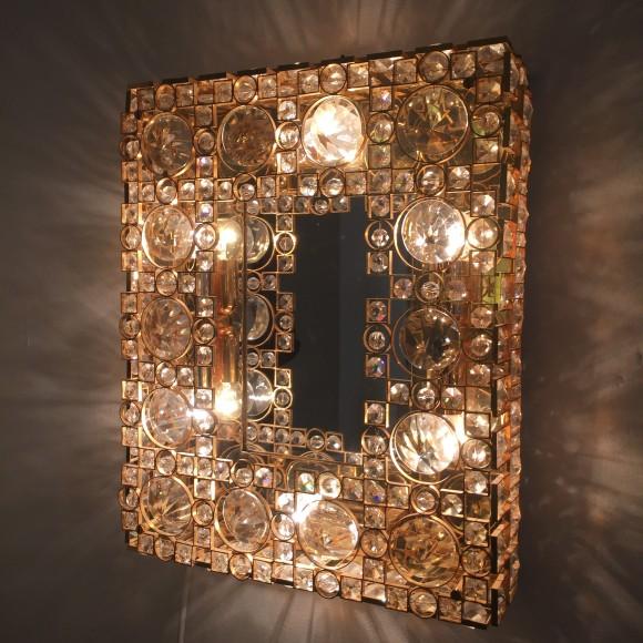 Elastique Vintage Zuerich Spiegel Mirror Palwa Lobmeyr Style 1