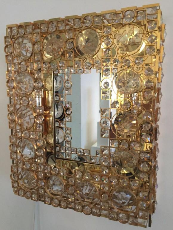 Elastique Vintage Zuerich Spiegel Mirror Palwa Lobmeyr Style 2