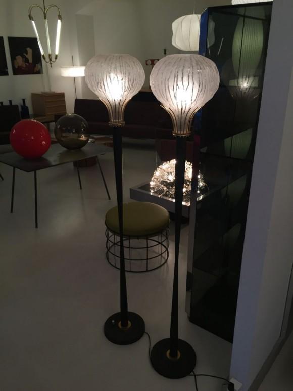 Elastique Vintage Zuerich Stehlampen Frankreich 1950 2