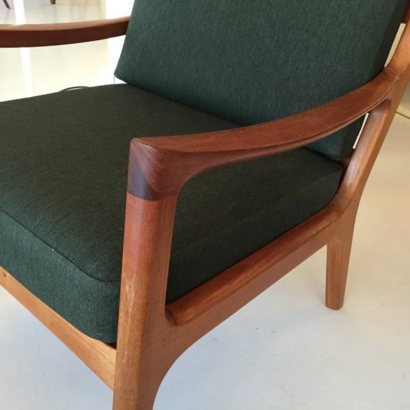 Elastique Vintage Zuerich Ole Wanscher Senator Chair Teak 1