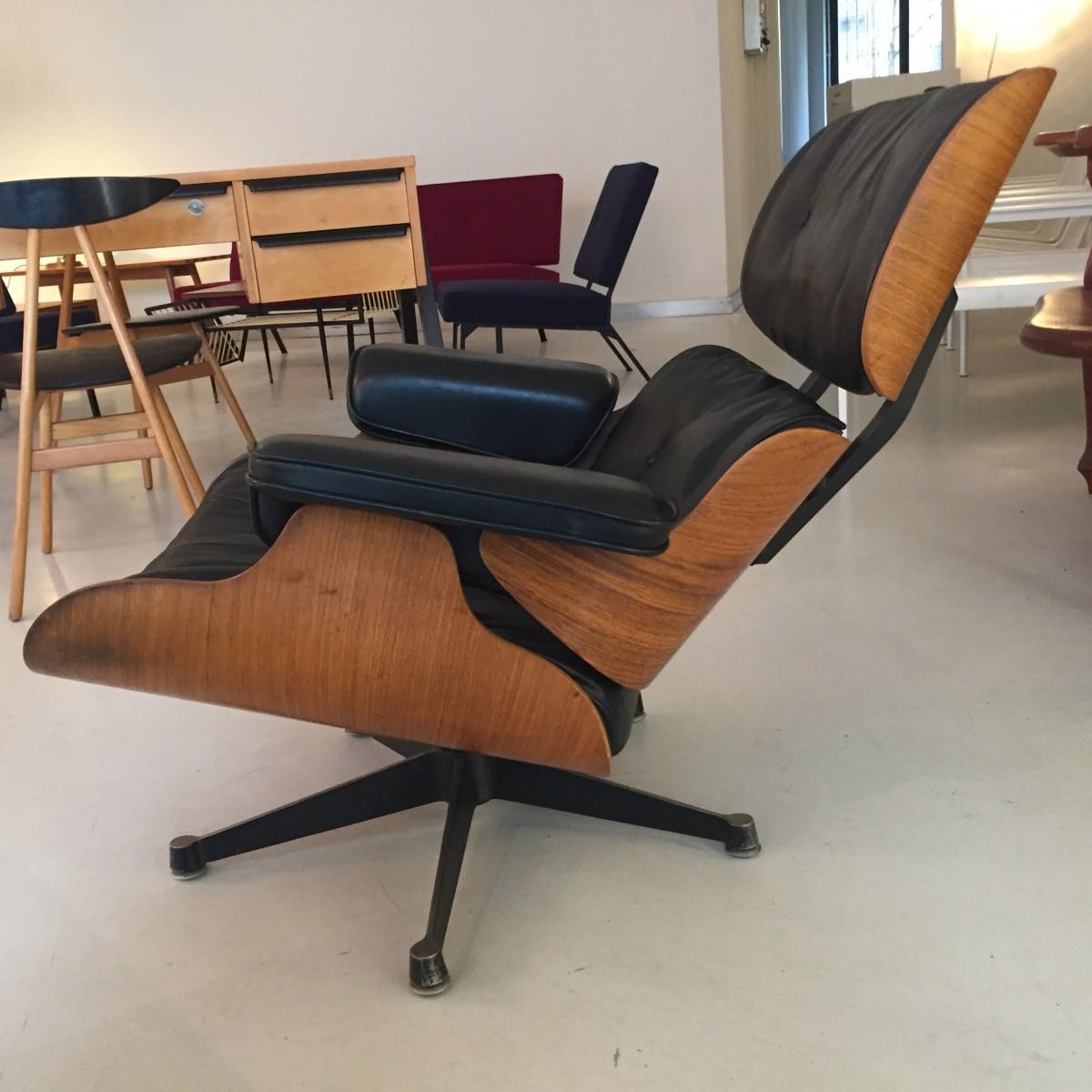 Eames Lounge Chair In Palisander Elastique Zürich Vintage Möbel