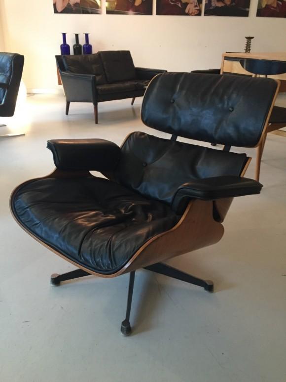 Elastique Vintage Furniture Moebel Zuerich Eames Lounge Chair Rosewood Palisander Miller Vitra 10