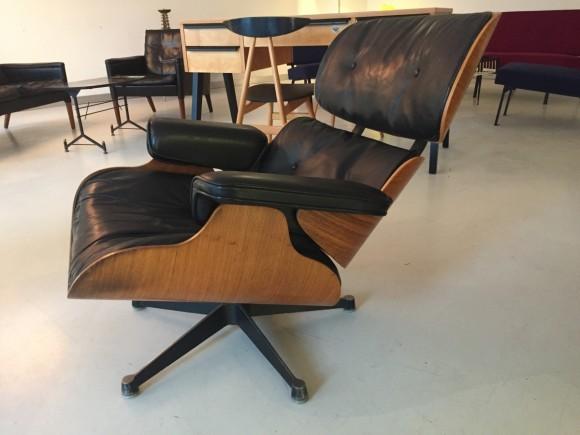 Elastique Vintage Furniture Moebel Zuerich Eames Lounge Chair Rosewood Palisander Miller Vitra 8