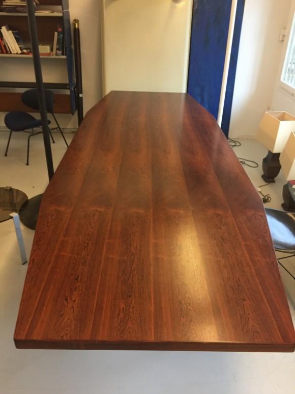 Konferenztisch 1960 Palisander Rosewood Table Elastique Vintage Moebel Zuerich Schweiz 3