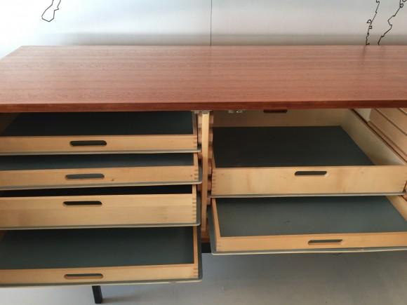 Sideboard Cabinet Dieter Waeckerlin B40 Idealheim Teak Elastique Vintage Moebel Zuerich Schweiz 1