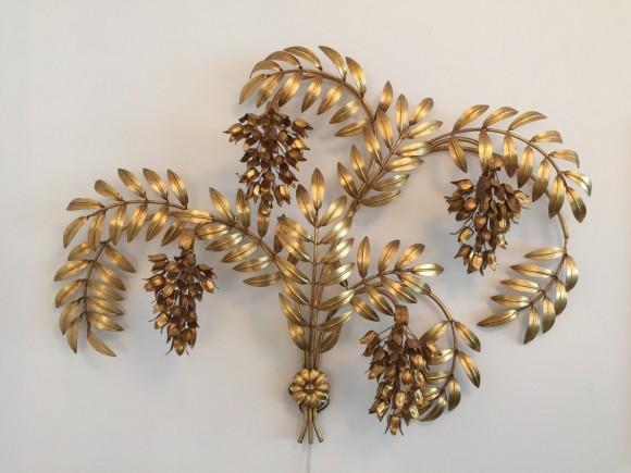 Wandlampe Lamp Hans Koegl Blaetter Gold Elastique Vintage Moebel Zuerich Schweiz 10