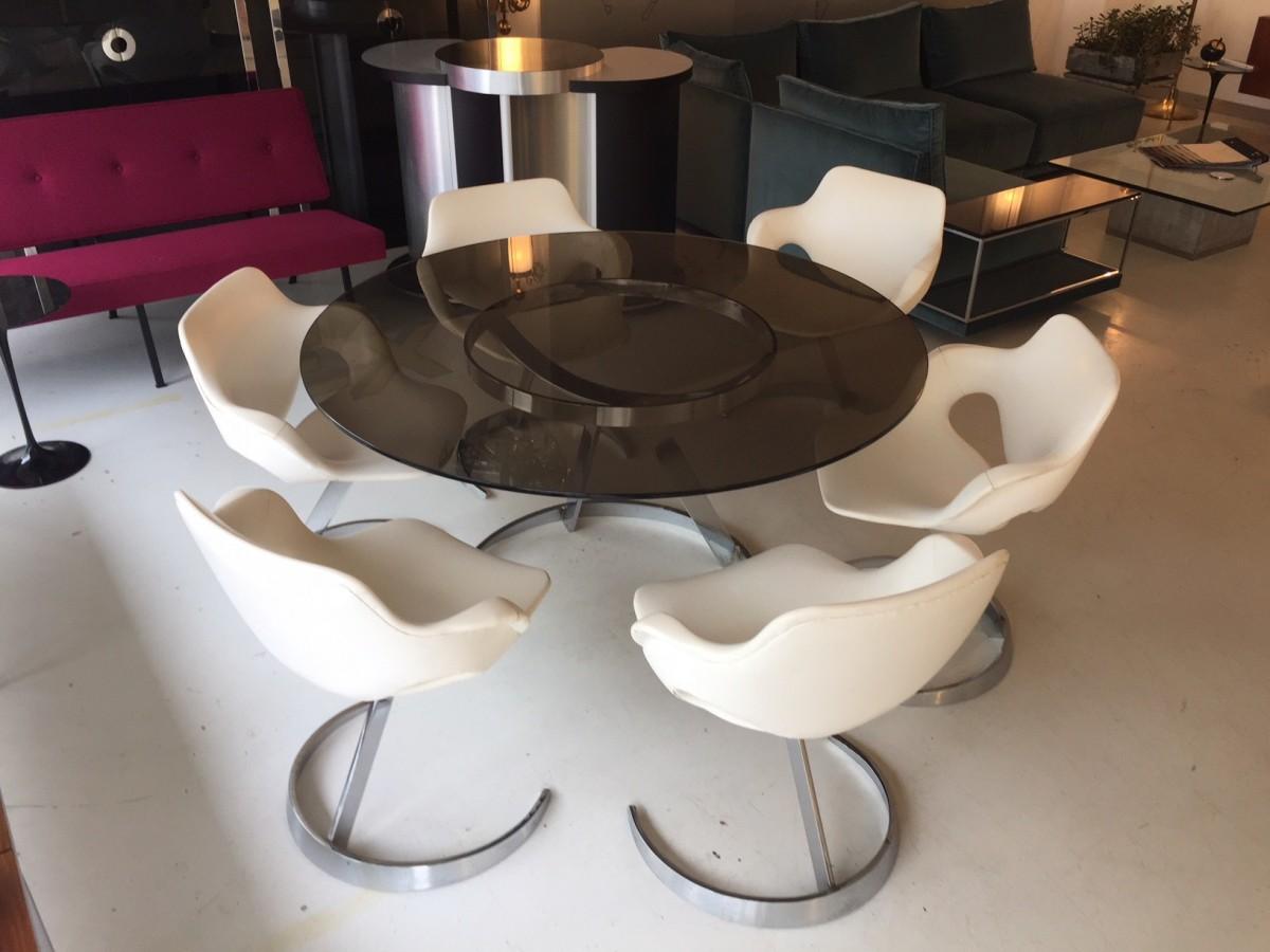 Tisch Und Stühle elastique vintage möbel furniture zürich schweiz boris tabacoff