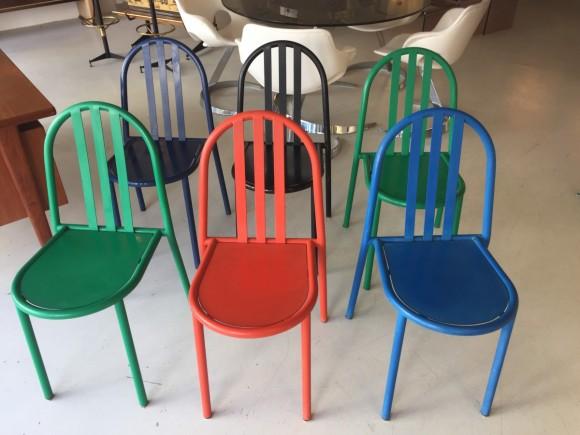 Robert Mallet Stevens Ecart Stapelstuhl Stacking Chair Elastique Vintage Moebel Furniture Zuerich Schweiz 1