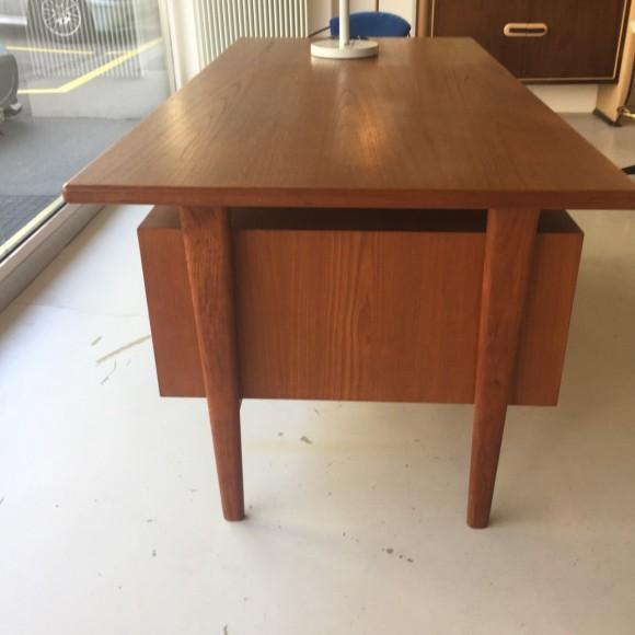 Teak Schreibtisch Desk Swissteak Adolf Suter 1960 Elastique Vintage Moebel Furniture Zuerich Schweiz 1