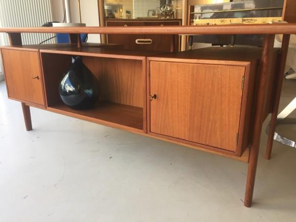Teak Schreibtisch Desk Swissteak Adolf Suter 1960 Elastique Vintage Moebel Furniture Zuerich Schweiz 4