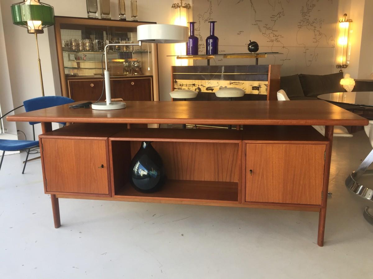 elastique vintage möbel furniture zürich schweiz – Teak Schreibtisch ...