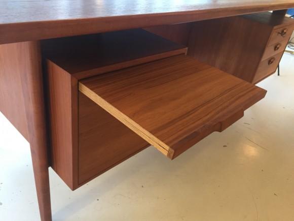 Teak Schreibtisch Desk Swissteak Adolf Suter 1960 Elastique Vintage Moebel Furniture Zuerich Schweiz 6