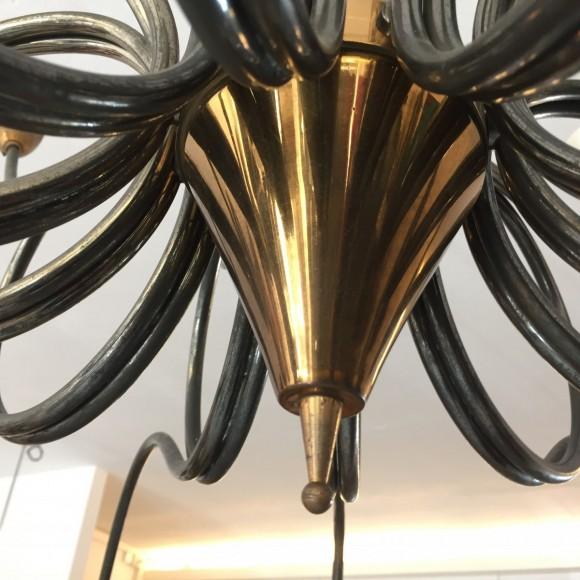 50er Jahre Lampe 1950 Messing Glas Italien Italy Sputnik Leuchter Elastique Zuerich Schweiz Switzerland 3