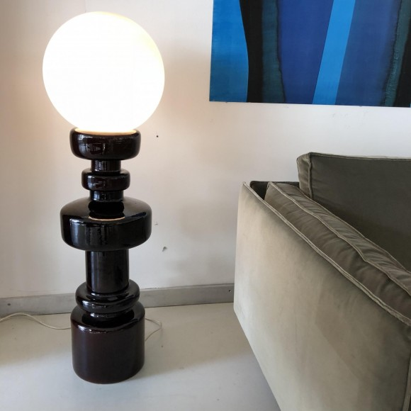 Keramik Lampe Ceramic Lamp Italy 1970 Elastique Vintage Moebel Zuerich 5