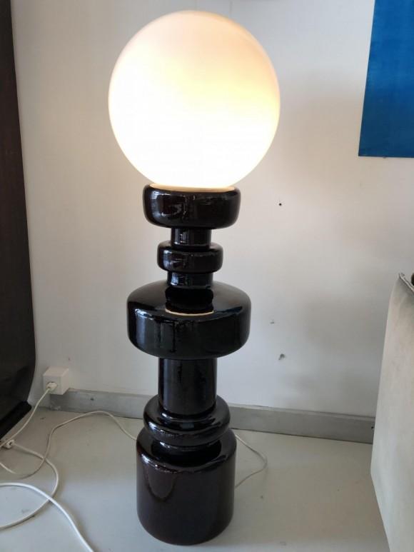 Keramik Lampe Ceramic Lamp Italy 1970 Elastique Vintage Moebel Zuerich