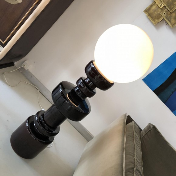Keramik Lampe Ceramic Lamp Italy 1970 Elastique Vintage Moebel Zuerich 6