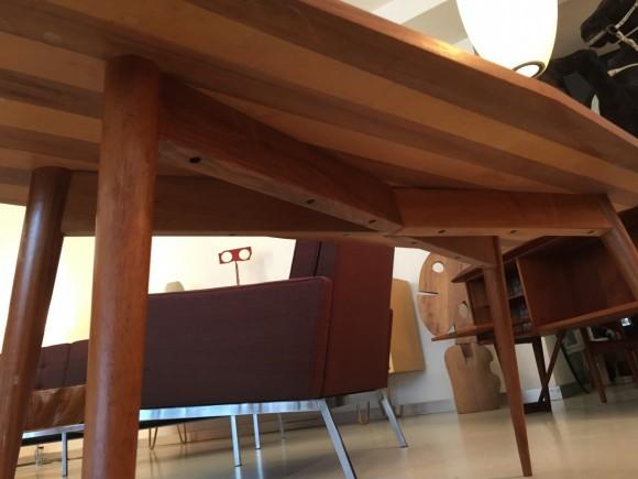 Massivholz 1950 Klubtisch Kreuzzarge Bill Bellmann Horgen Glarus 5