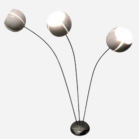 Florale Stehlampe mit 3 Kugeln